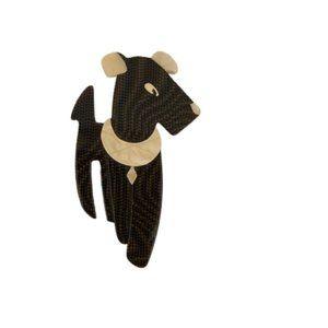 Lea Stein Paris Ric The Dog Pin